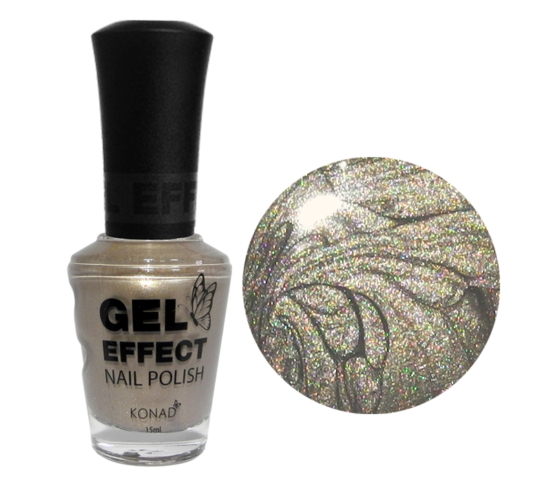 Silver Pearl Gel Effect Nail Polish (15ml)